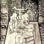 49 De lezende stier in het Alhambra